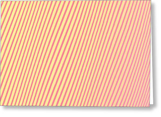 Modern Abstract Digital Digital Tapestries - Textiles Greeting Cards - Striped? Greeting Card by Suzi Freeman