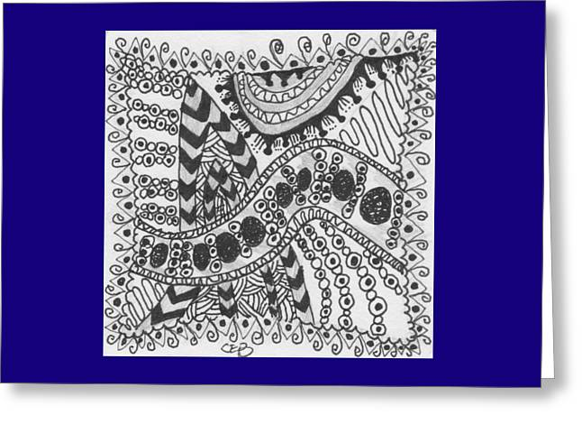 Pen And Ink Drawing Greeting Cards - Stripes Greeting Card by The Sandwich  Woman