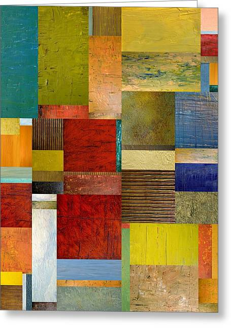 Color Compilation Greeting Cards - Strips and Pieces l Greeting Card by Michelle Calkins