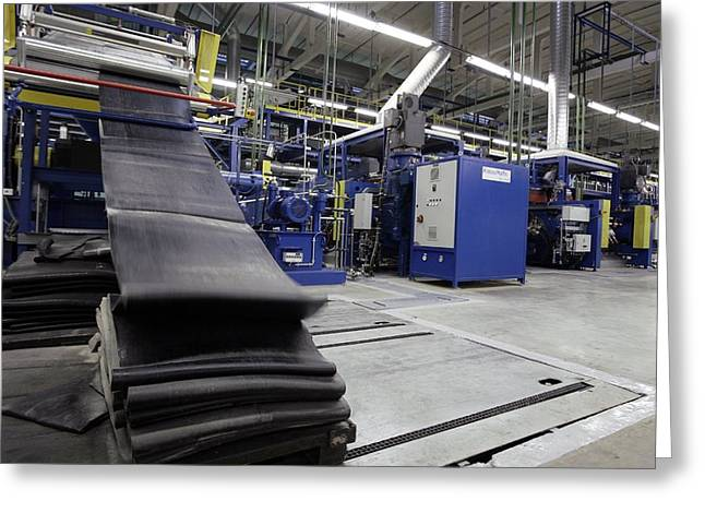 Factory Workers Greeting Cards - Strips Of Rubber For Tyres Greeting Card by Ria Novosti