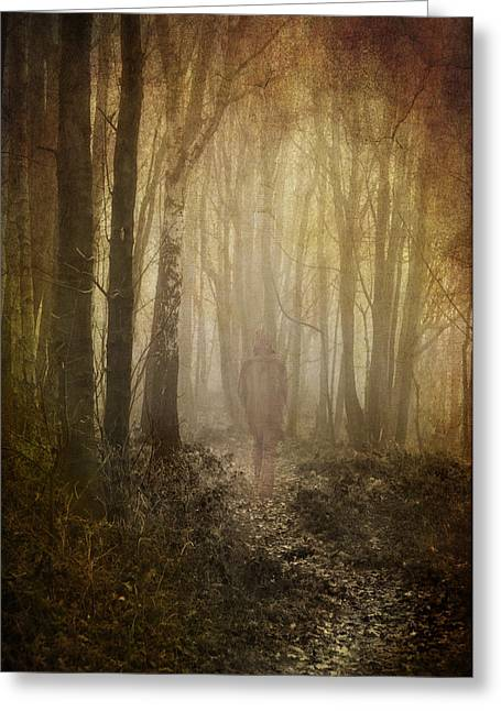 Spook Greeting Cards - Stroll Through My Mind Greeting Card by Meirion Matthias