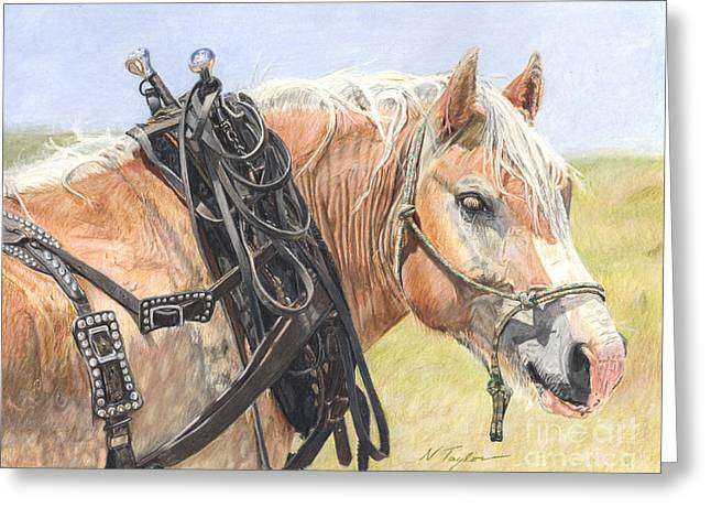 Ranch Drawings Greeting Cards - Strong and True Greeting Card by Nichole Taylor