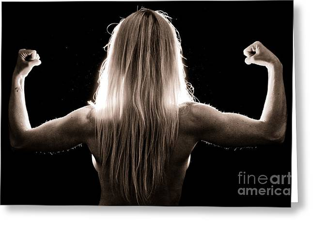 Biceps Greeting Cards - Strong Light Greeting Card by Jt PhotoDesign