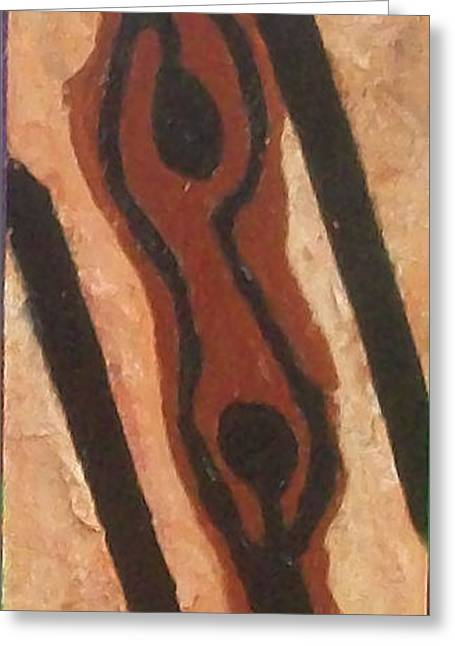 Abstract Expression Greeting Cards - Strong Relationship Greeting Card by Esther Jones