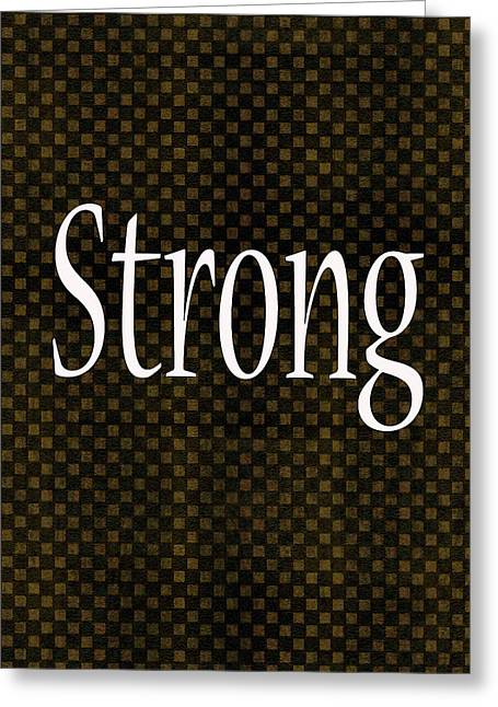 Installation Art Greeting Cards - Strong Greeting Card by Tina M Wenger