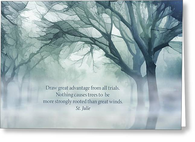 Strongly Rooted Greeting Card by Terry Davis