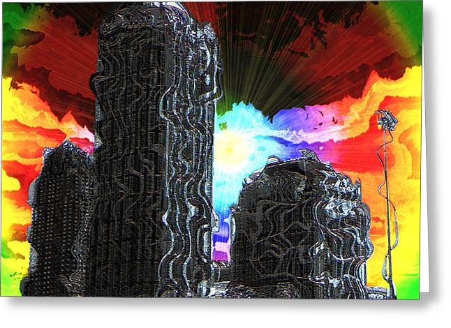 Dissonances Greeting Cards - Structural Dissonance Greeting Card by Iowan Stone-Flowers