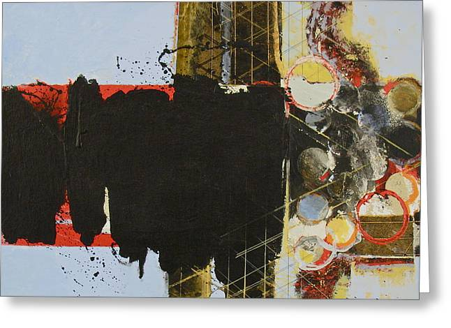 Transfer Mixed Media Greeting Cards - Structure Greeting Card by Cliff Spohn