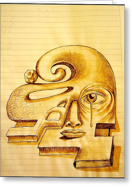 Evolutionary Thought Greeting Cards - Structure of Thought Greeting Card by Paulo Zerbato