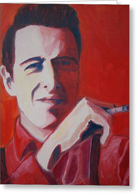The Clash Greeting Cards - Strummer Greeting Card by Natasha Laurence