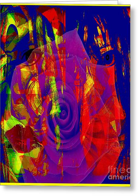 Abstract Digital Mixed Media Greeting Cards - Stuck Inside His Music Greeting Card by Fania Simon