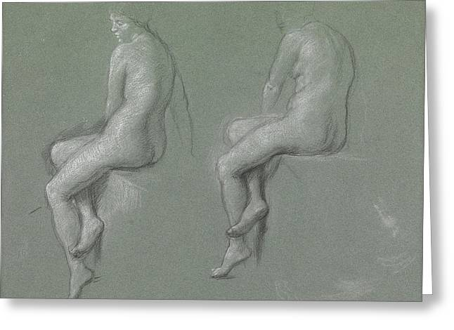 Figure Study Pastels Greeting Cards - Studies of the nude Greeting Card by Sir Edward John Poynter