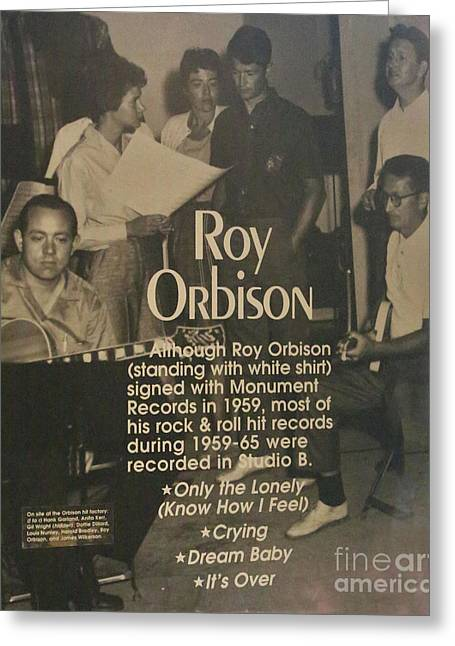 Studio B Roy Orbison  Greeting Card by Chuck Kuhn