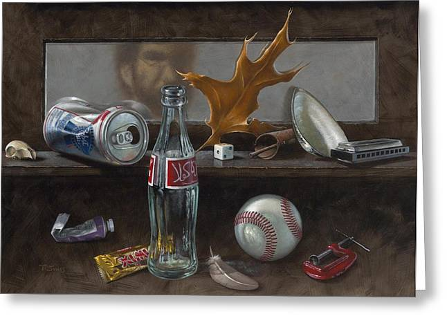 Baseball Paintings Greeting Cards - Studio Curios Greeting Card by Timothy Jones