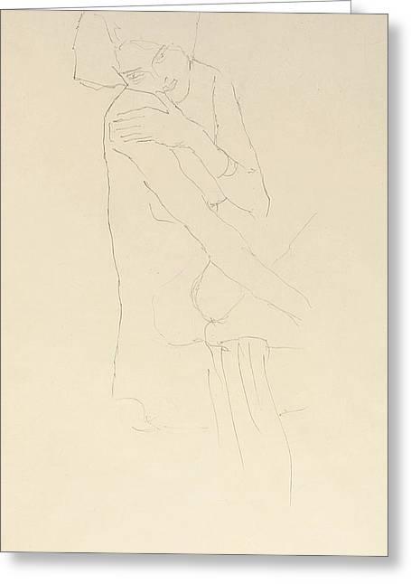 Study For Adele Bloch Bauer II Greeting Card by Gustav Klimt