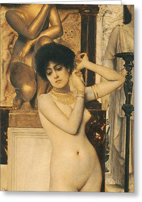 Klimt Greeting Cards - Study for Allegory of Sculpture Greeting Card by Gustav Klimt