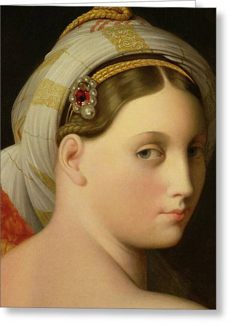 Beautiful Face Greeting Cards - Study for an Odalisque Greeting Card by Ingres