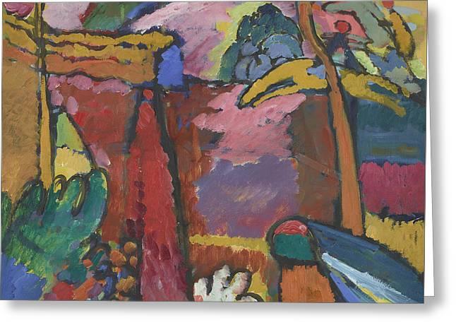 Study For Improvisation V Greeting Card by Wassily Kandinsky