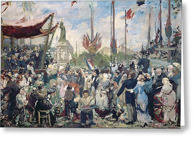 Historical People Greeting Cards - Study for Le 14 Juillet 1880 Greeting Card by Alfred Roll