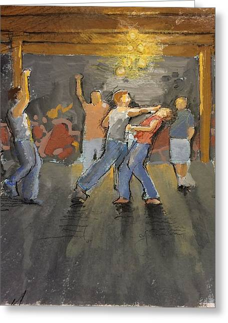 Basement Greeting Cards - Study for The Warehouse Greeting Card by H James Hoff