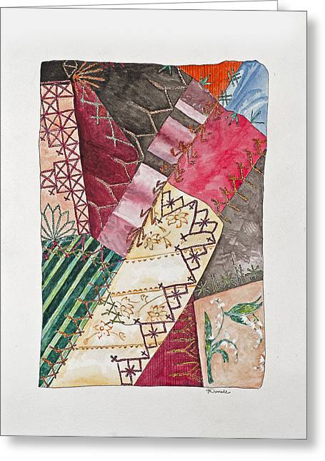 Unique Quilts Greeting Cards - Study Jenny Camerons Quilt III Greeting Card by Jane Durrell