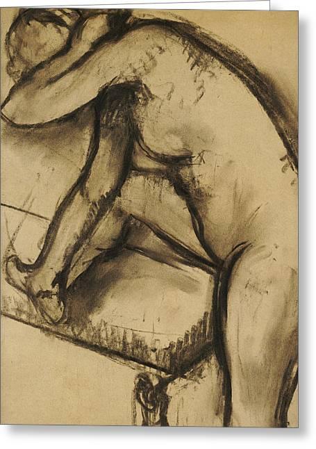 Study Of A Dancer Greeting Card by Edgar Degas