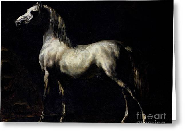 Equus Greeting Cards - Study of a Dapple Grey Greeting Card by Theodore Gericault