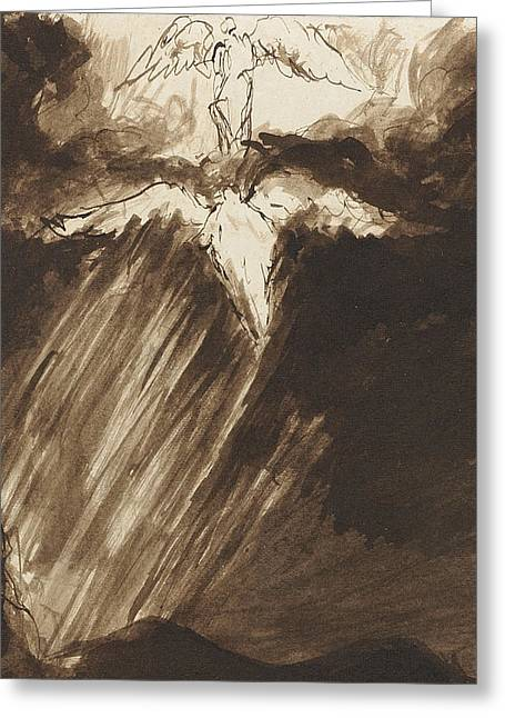 Bible Pastels Greeting Cards - Study of Jacobs Dream Greeting Card by John Constable