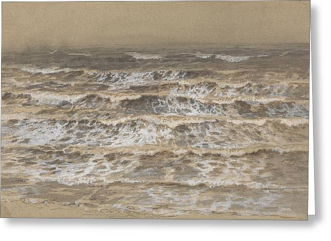 Study Of Waves Greeting Card by Samuel Palmer