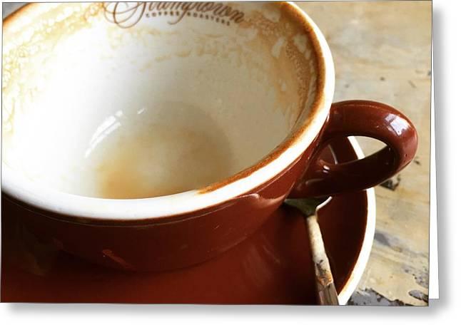 Morning Breakfast Greeting Cards - Stumptown Cup Greeting Card by Nancy Ingersoll