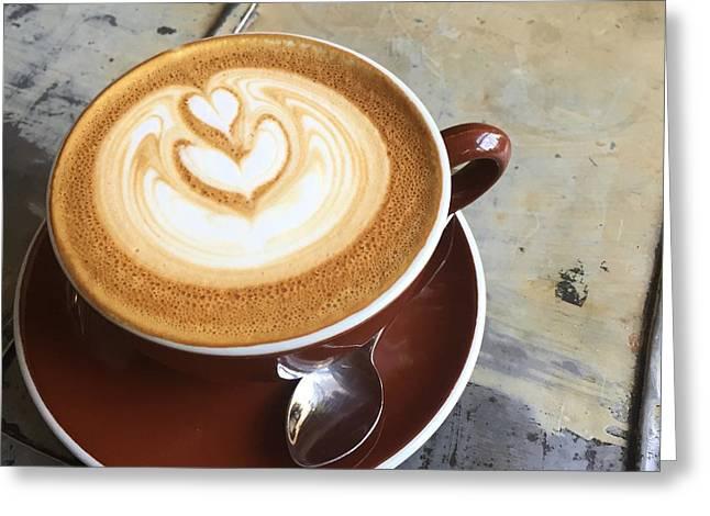 Morning Breakfast Greeting Cards - Stumptown Greeting Card by Nancy Ingersoll