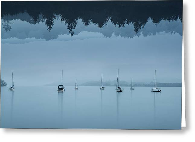 Stunning Impossible Puzzling Conceptual Landscape Image Of Lake  Greeting Card by Matthew Gibson