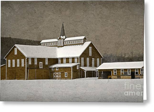 Stylistic Greeting Cards - Stylistic Country Barn Greeting Card by John Stephens