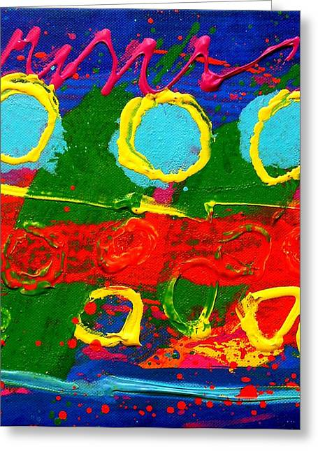 Abstract Expressionistic Greeting Cards - Sub Aqua I - Triptych Greeting Card by John  Nolan