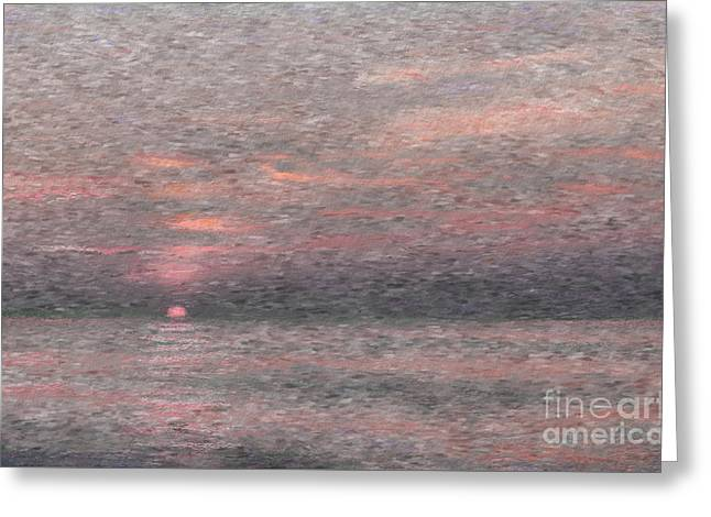 Subdued Sunset Greeting Card by Jeff Breiman