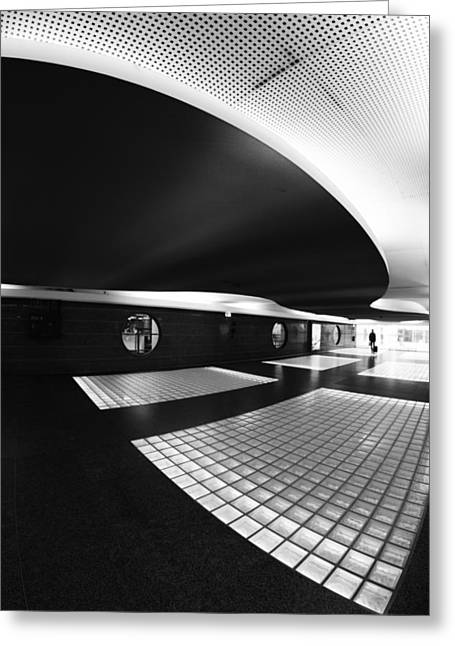 Parking Greeting Cards - Subhuman Greeting Card by Paulo Abrantes