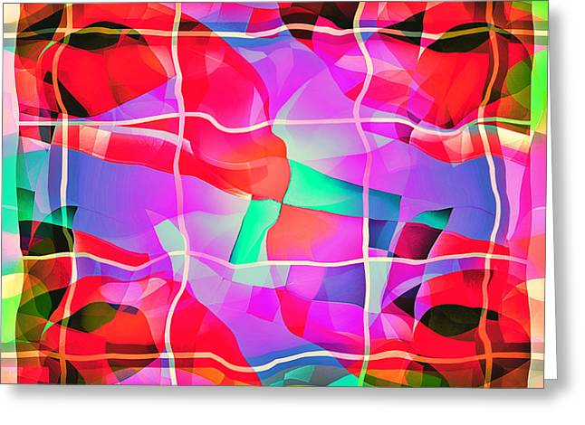 Geometric Art Greeting Cards - Sublime Distortion Greeting Card by Aurelio Zucco