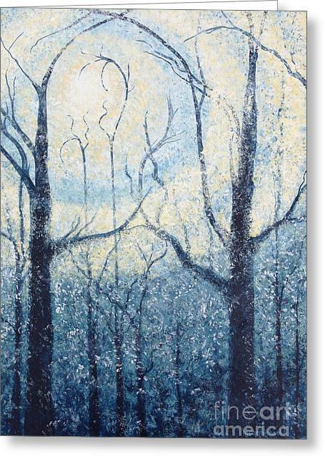 Inspirational. Pointillism Greeting Cards - Sublimity Greeting Card by Holly Carmichael