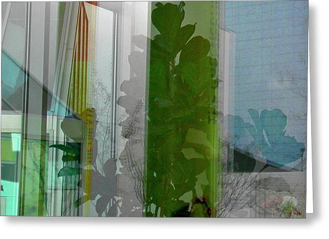 Subtle Reflections Greeting Card by Nabila Khanam
