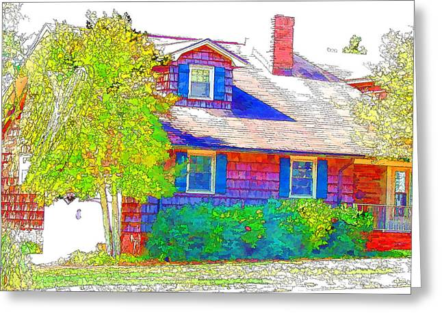 Spotless Greeting Cards - Suburban home 4 Greeting Card by Lanjee Chee