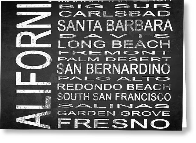 Subway California State 4 Square Greeting Card by Melissa Smith
