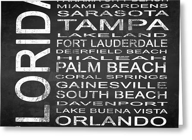Subway Florida State 3 Square Greeting Card by Melissa Smith