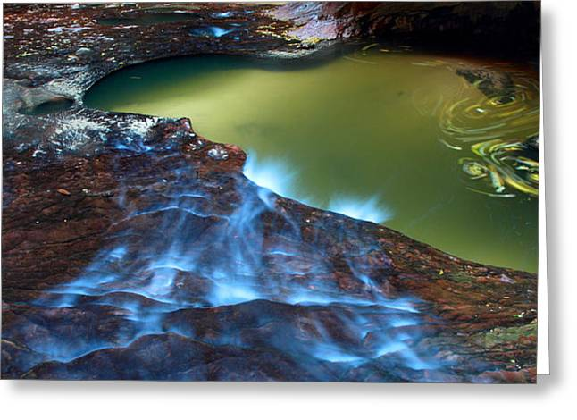 Subway in Zion national park Utah Greeting Card by Pierre Leclerc Photography