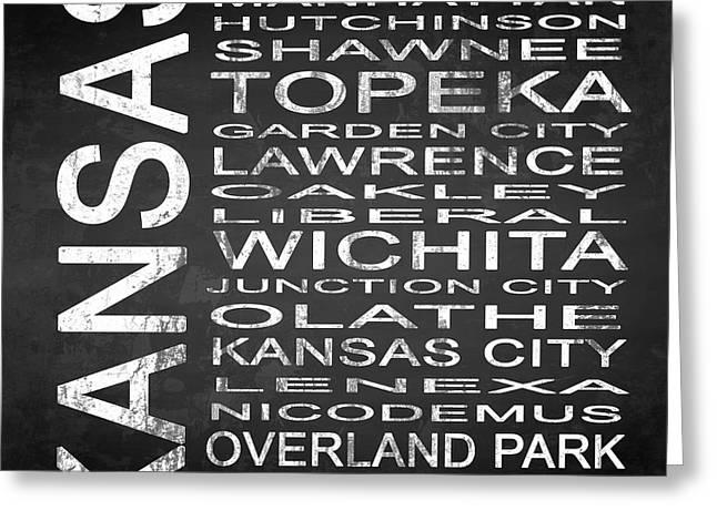 Subway Kansas State Square Greeting Card by Melissa Smith