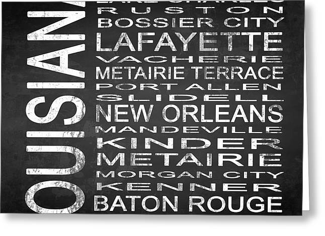 Ruston Greeting Cards - SUBWAY Louisiana State Square Greeting Card by Melissa Smith