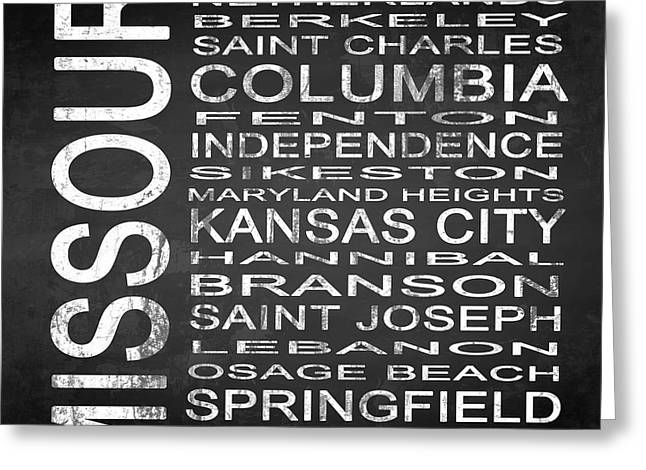 Subway Missouri State Square Greeting Card by Melissa Smith