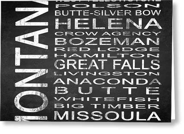 Missoula Greeting Cards - SUBWAY Montana State Square Greeting Card by Melissa Smith