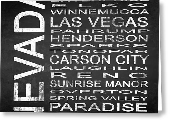 Subway Nevada State Square Greeting Card by Melissa Smith