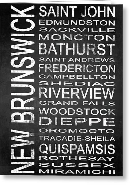 Subway New Brunswick Canada 1 Greeting Card by Melissa Smith