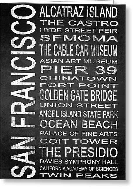 California Beach Art Greeting Cards - SUBWAY San Francisco 1 Greeting Card by Melissa Smith
